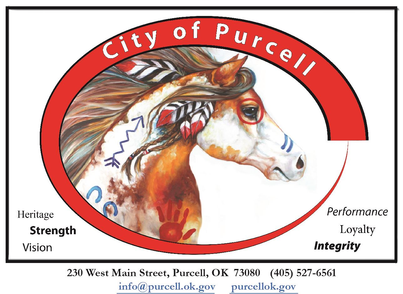 City of Purcell Logo Warrior Horse letterhead