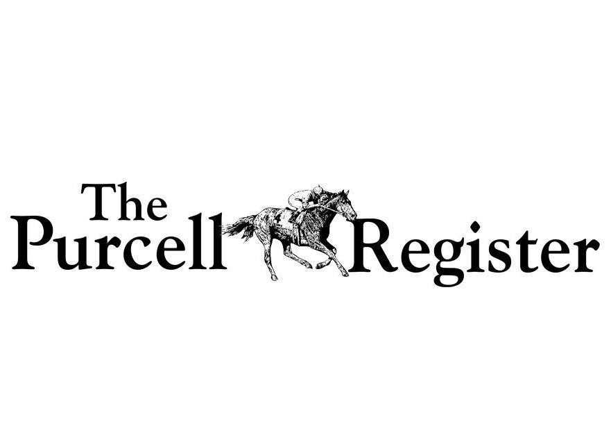 purcell register logo with man riding horse