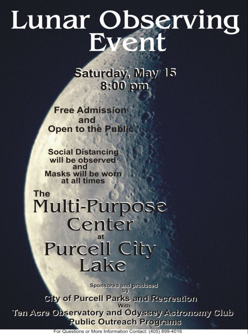 Lunar Observing Event 2021 Flyer