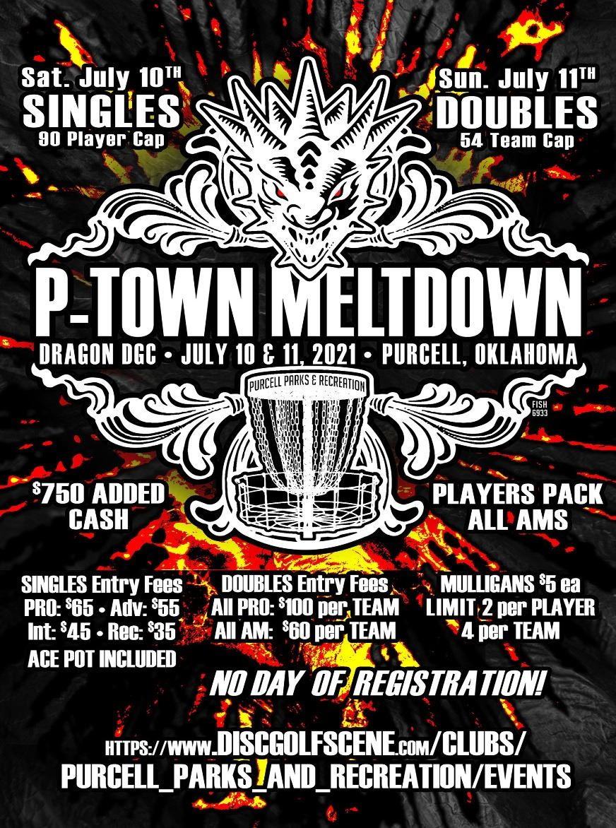P-Town Meltdown Disc Golf Tournament Flyer