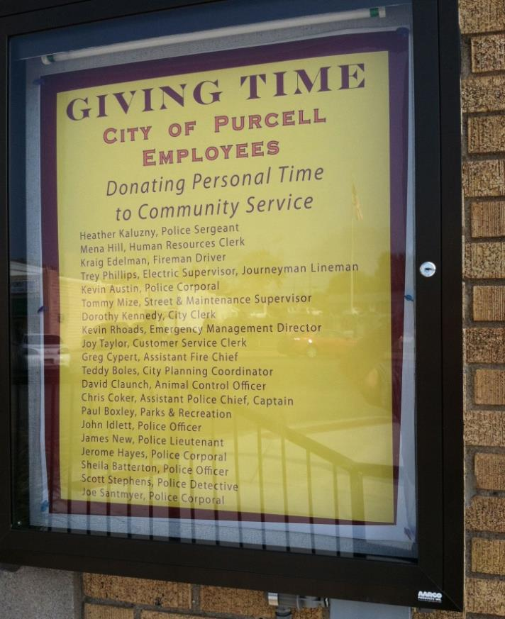 Giving Time City of Purcell Employees List
